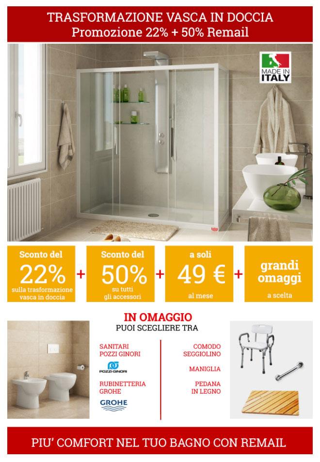 Remail trasforma la vasca in doccia visto in tv - Trasformare vasca da bagno in doccia ...